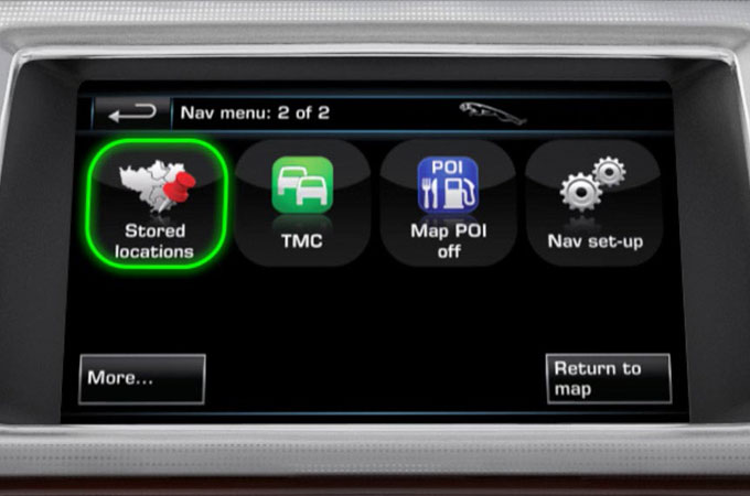 XF Navigation Memory Points