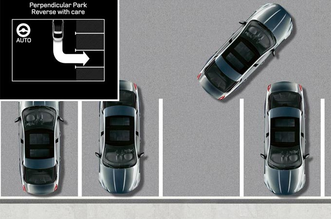 Jaguar XJ Park Assist Illustration