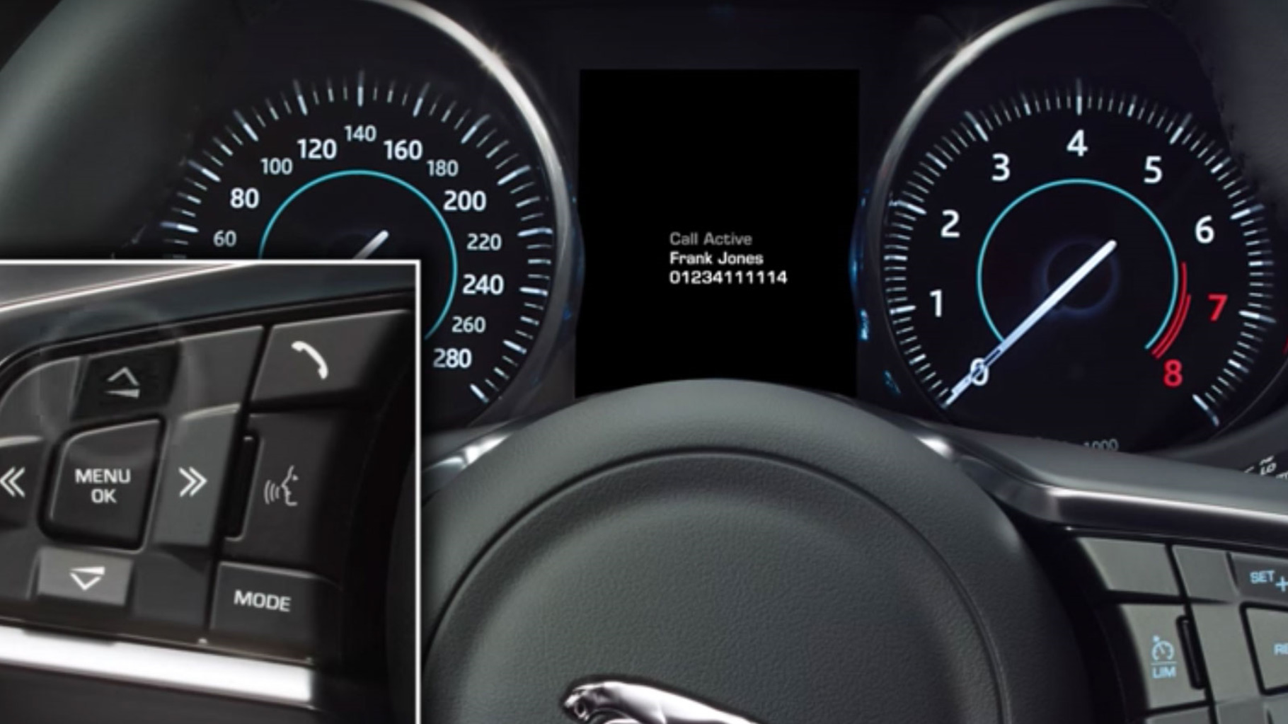 Jaguar F-Pace's InControl Pro: Steering Wheel Controls information video.