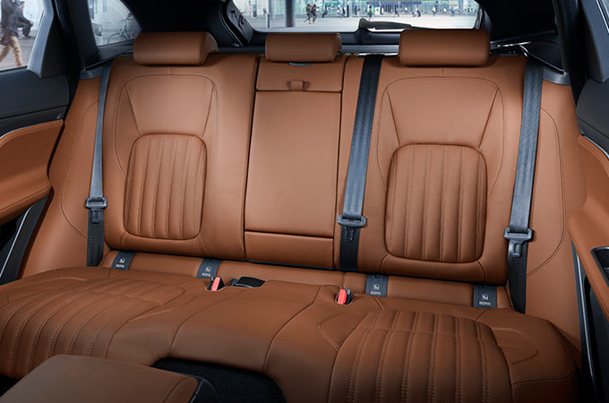 Jaguar F-PACE interior rear seats.