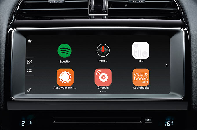 Jaguar F-Pace Incontrol Apps.
