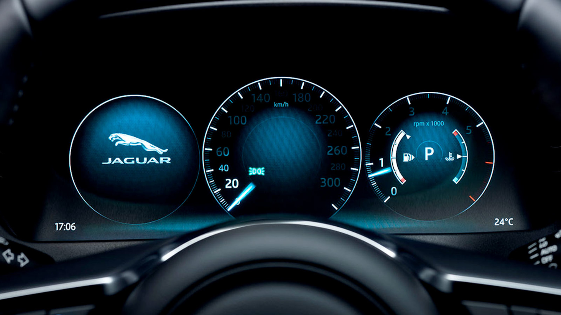 Jaguar F-Pace Dashboard.