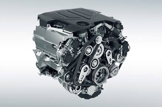 Jaguar F-Type V6 Engine.