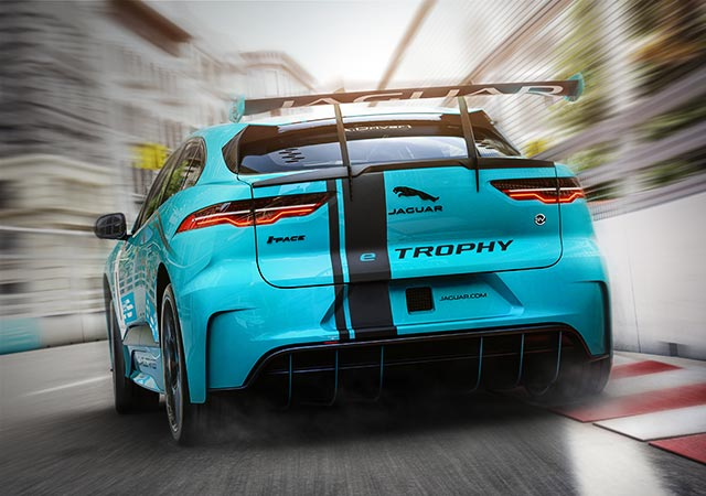 Jaguar I-PACE racing on track