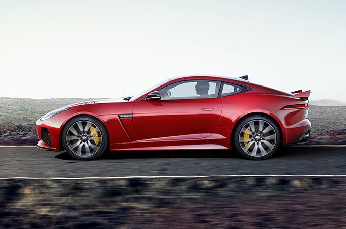 Jaguar F-Type SVR Powertrain Driving.