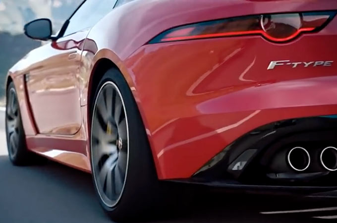 Jaguar F-Type SVR Convertible Side View Every Detail