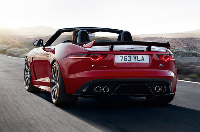Jaguar F-Type SVR Powertrain