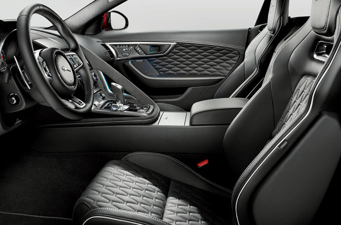 Jaguar F-Type SVR Convertible Interior