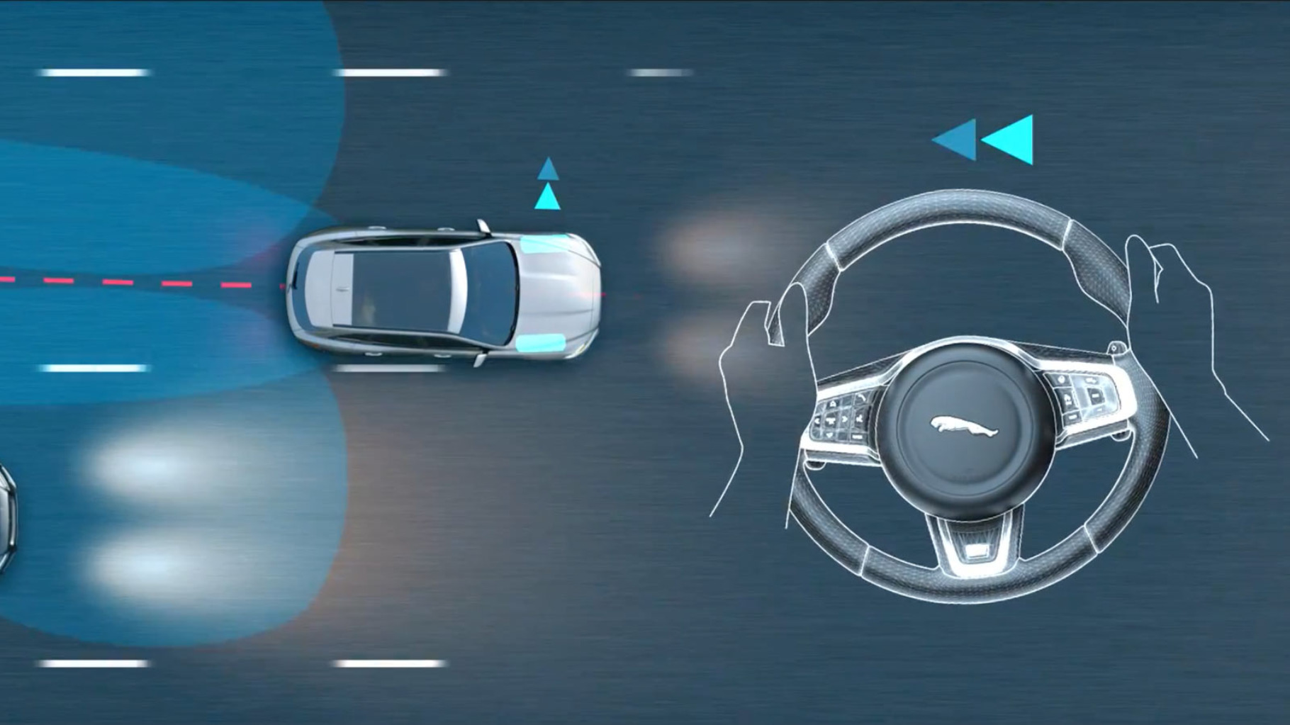 Jaguar F-Type Blind Spot Assist.