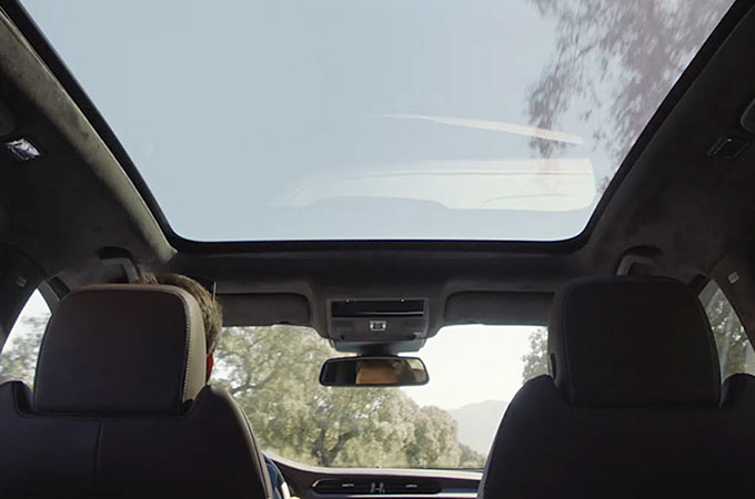 Jaguar XF Panoramic Glass Roof Light Wave.
