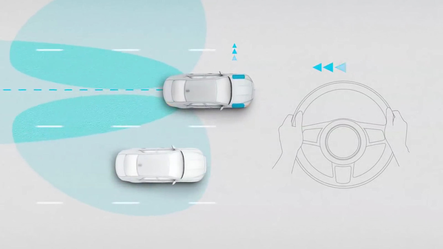 Jaguar XF Blind Spot Assist.