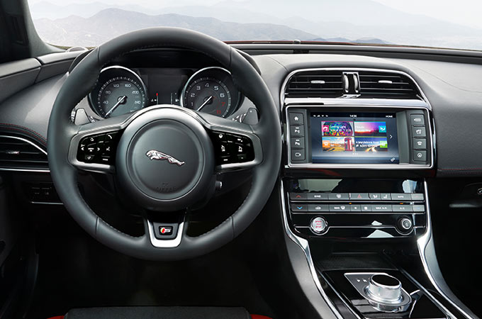 touch screen and steering wheel.