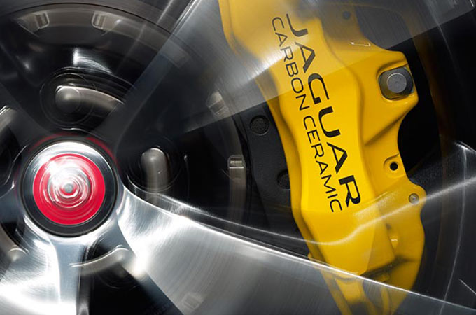 close up of jag wheel with yellow bit.