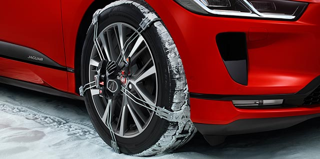 Jaguar I-PACE Tractionsystem for snow