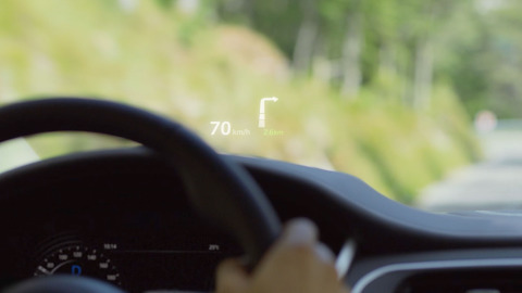 I-PACE Head Up Display