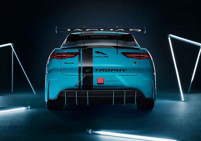 Electric Blue Jaguar I-PACE eTrophy