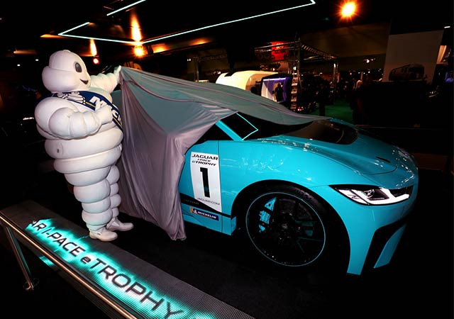 Michellin unveils Jaguar I-PACE eTROPHY Car