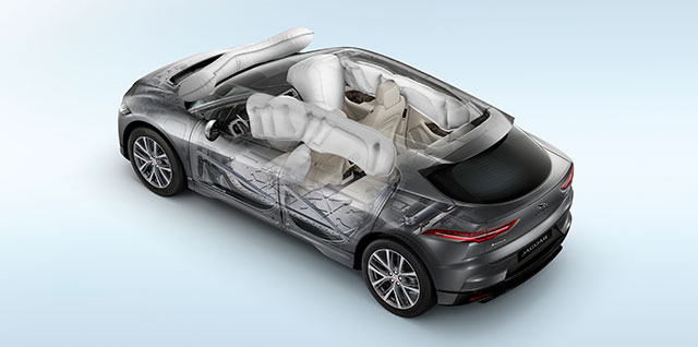 Jaguar I-PACE Safety Airbag Deployment Features
