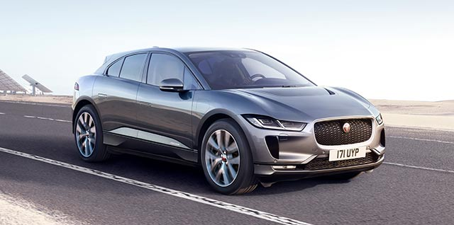Jaguar I-PACE driving on road