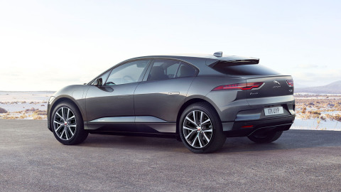 Rear View of Jaguar All Electric I-PACE