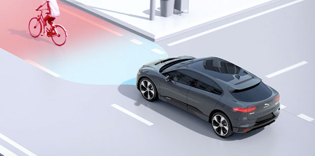 Jaguar I-PACE Driver Assistance - Emergency Braking