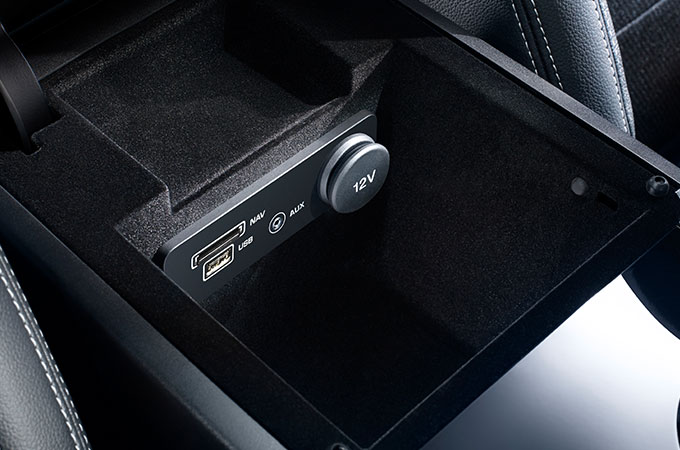 Jaguar XE power sockets.