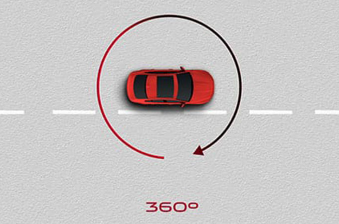Frame from Jaguar's Adaptive Cruise Control with Queue Assist information video.