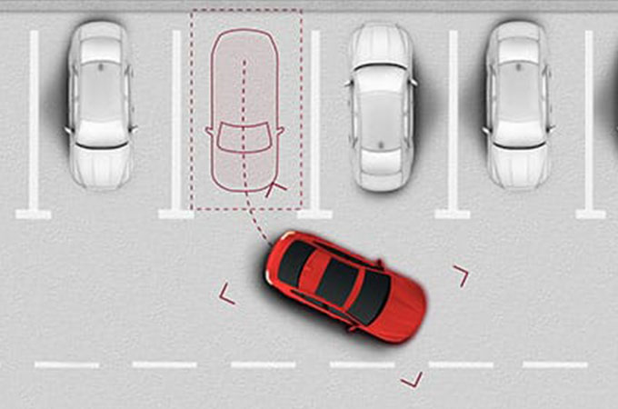Frame from Jaguar's Traffic Sign Recognition and Adaptive Speed Limiter information video.