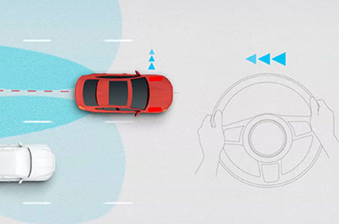 Frame from Jaguar's Blind Spot Assist information video.