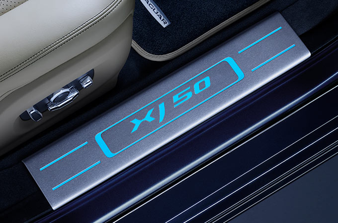 Jaguar XJ Illuminated Treadplates.