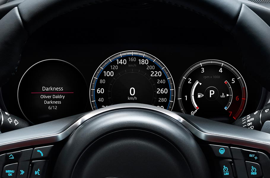 Jaguar XE Virtual Instrument Display
