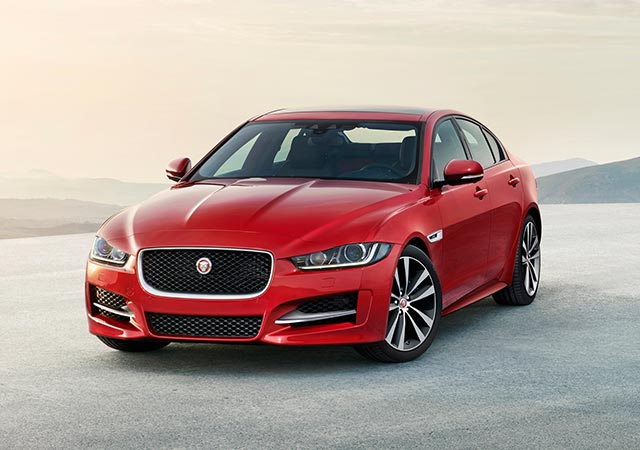 Front View of Jaguar Red XE