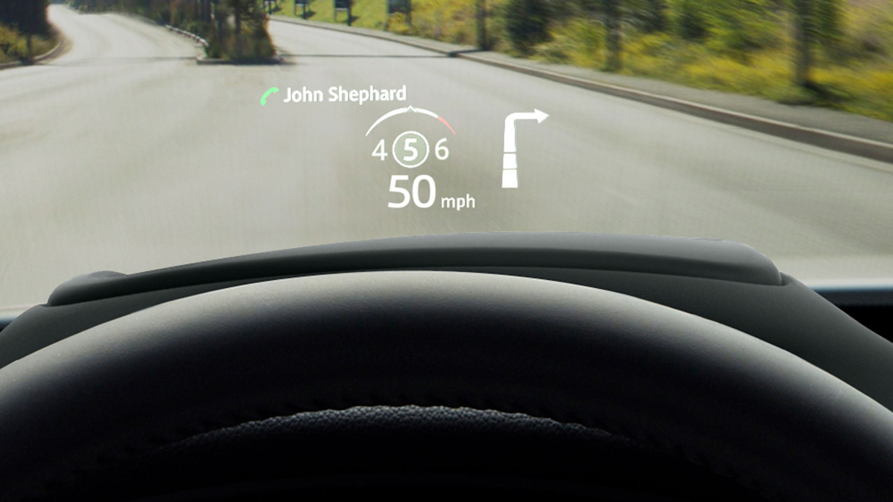 Image of Jaguar E-Pace Head up Display.