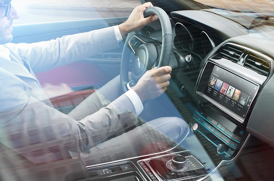 Jaguar InControl Touch Pro screen delivers rich audio-visual entertainment and navigation