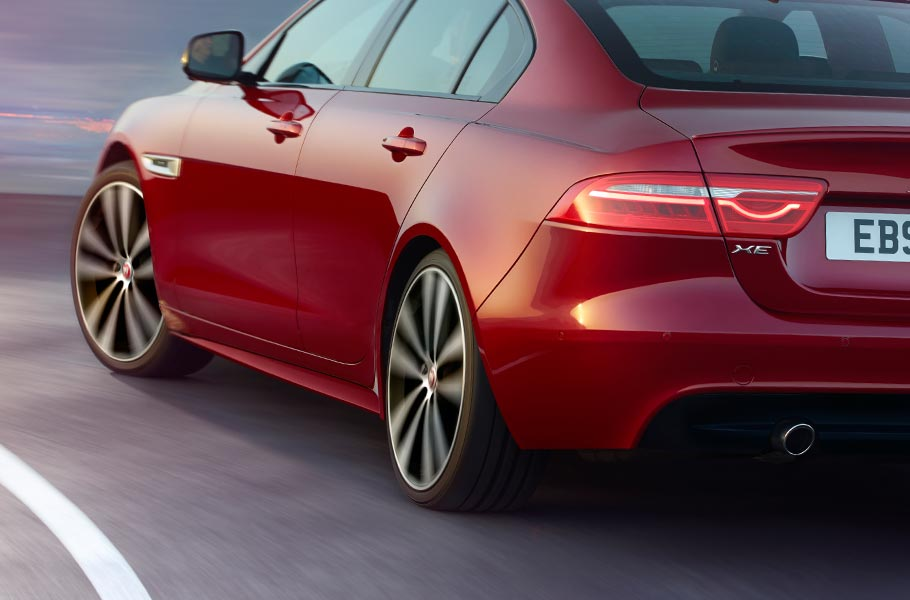 Jaguar XE taut rear haunches design