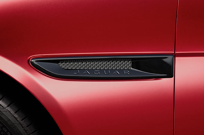 Jaguar XE's carbon fibre side vents.
