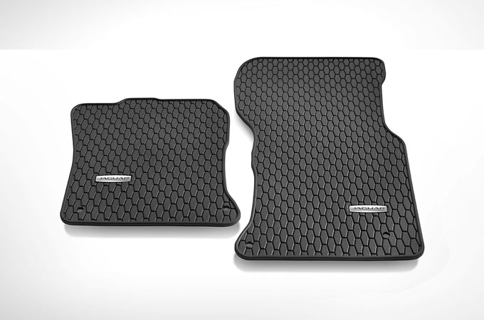 Jaguar XE's Lifestyle Pack floor mats.