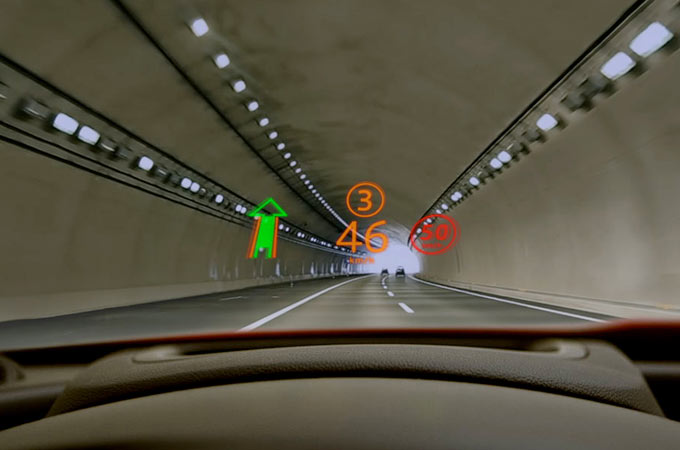 Head-up display Illustration.