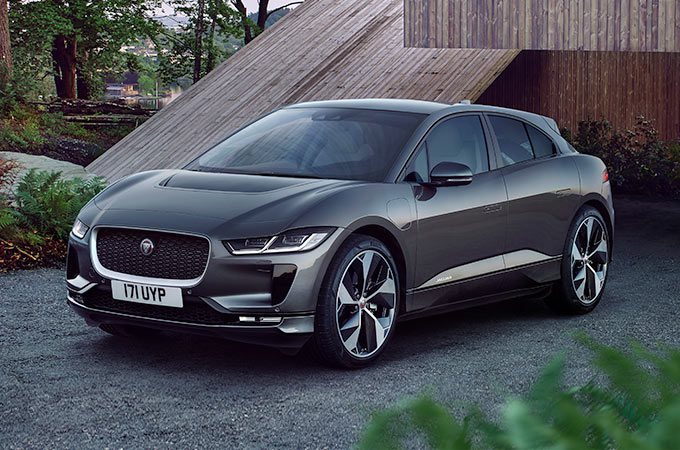 Jaguar I-PACE Parked on a Drive.