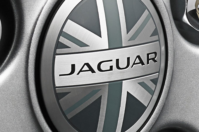 WHEEL CENTRE BADGE - UNION JACK.
