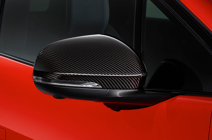 I-Pace CARBON FIBRE MIRROR COVERS.