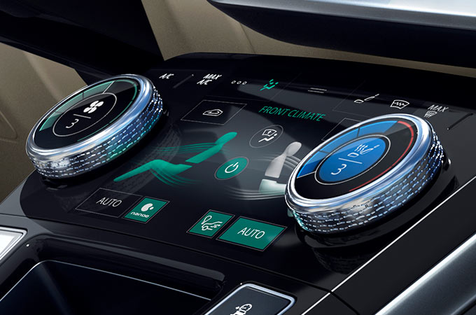 Jaguar I-PACE Dials And Screen Display.