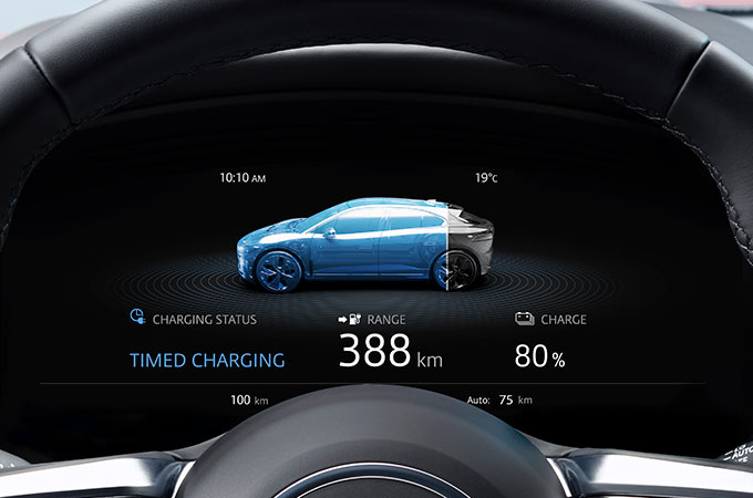Jaguar I-PACE Dashboard Display.
