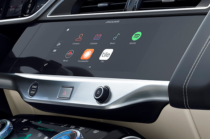 Jaguar I-Pace Touch Screen Display.