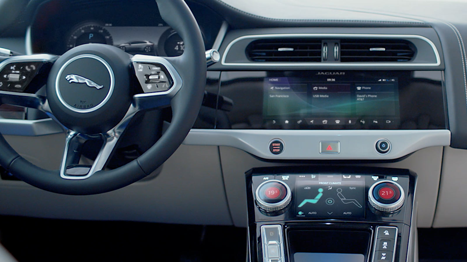 Jaguar I-Pace Dashboard And Controls.