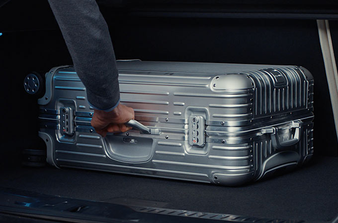 Suitcase Being Put In Jaguar I-PACE Loadspace