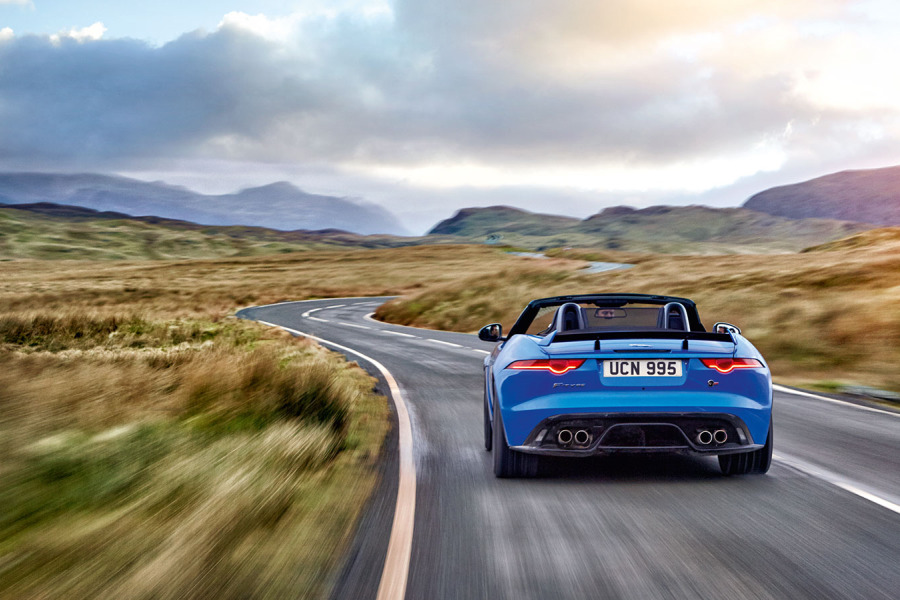 Blue F-Type SVR Back.