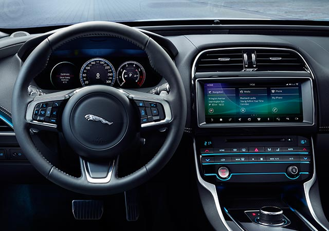 Jaguar XE with the latest technology to keep you safe, entertained and connected