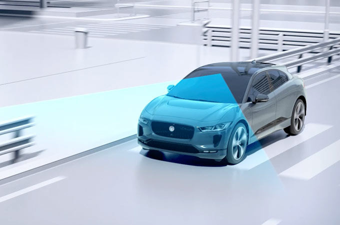 Jaguar I-PACE On Road Emergency Braking.