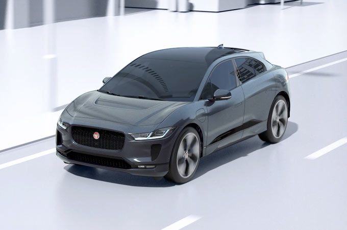 Jaguar I-Pace On A Road.